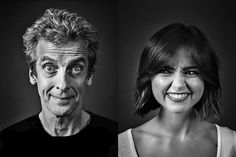Outtakes from Peter Capaldi and Jenna Coleman photoshoot by Andy Gotts