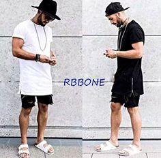 2017 New Summer style Men silver side zipper T-shirt streetwear Style Hip Hop T shirts Fashion Clothes designer swag T shirt