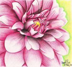 Dahlia flower design for girls room