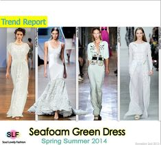 Sea-foam Green #Dress #Fashion Trend for Spring Summer 2014 #seafoam #green #spring2014 #colors #trends