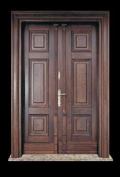 House Main Door Design, Wooden Front Door Design, Wooden Double Doors, Main Entrance Door Design, Modern Wooden Doors, Double Door Design, Room Door Design, Door Design Interior, Wooden Front Doors