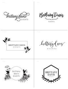 Brittany Davis Events logo design — designed and created by Hello Big Idea