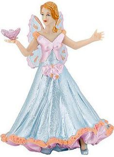 Blue Fairy with Butterfly  Price $9.99 Butterfly Gifts, Butterfly Fairy, Blue Butterfly, Princess Toys, Princess Girl, Disney Princess, Lightning Final Fantasy, Fairy Crafts, Blue Fairy