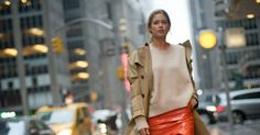 Street Style: New York Fashion Week - The model Doutzen Kroes heading to the Sies Marjan show on Sunday.  - The New York Times