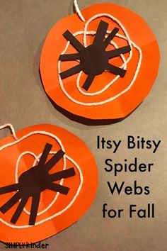 Spider craft for fall. Itsy bitsy spider craft perfect for fall, Halloween, or an insect study.