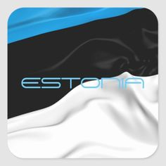 Shop Estonian Flag Square Sticker created by AwesomeFlags. Estonia Flag, Political Events, National Flag, Custom Stickers, Flags, Kids Outfits, Personalized Stickers, Kids Fashion