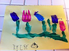 Fork flowers by Kylie