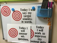 Using learning targets in speech therapy...
