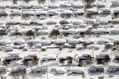 West Seneca ve státě New York pod přívaly sněhu