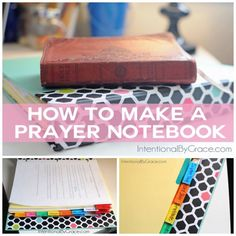 How to make a prayer notebook! This posts has lots of links, printables, and resources to help create your own prayer notebook.