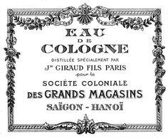 *The Graphics Fairy LLC*: Vintage Graphics - Gorgeous Paris Cologne Label Pub Vintage, Vintage Labels, Vintage Ephemera, French Vintage, Free French, French Blue, Vintage Wood, Printable Labels, Printables