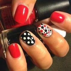 red and black Nail Art designs for 2015