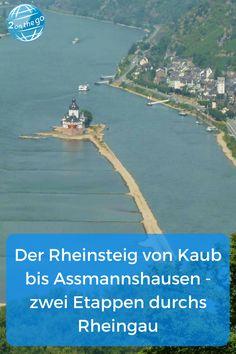 Von Kaub bis Assmannshausen führen zwei sehr aussichtsreiche Etappen des Rheinsteigs durchs Mittelrheintal. #rheinsteig #kaub #assmanshausen #mittelrhein #rheingau Reisen In Europa, Germany, Around The Worlds, Hiking, Tricks, Beach, Camping, Travel, Outdoor