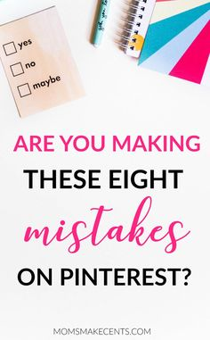 Are you using Pinterest to grow your blog? Then chances are you may be  making one of these Pinterest mistakes!  Pinterest is a fabulous way to increasing your traffic, subscribers, and  income, but it needs to be implemented strategically. In this post we  talked about things you should do, now I want to cover what you should not  be doing on Pinterest. Let's dive in!  THE EIGHT MOST COMMON PINTEREST MISTAKES  1. INCOMPLETE BRAND PAGE  Your brand page or your homepage on Pinterest should…