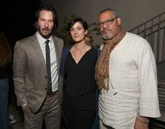 """Keanu Reeves, Carrie-Anne Moss and Laurence Fishburne attend the after party for the premiere of Summit Entertainment's """"John Wick: Chapter Two""""on January 2017 in Hollywood, California. Get premium, high resolution news photos at Getty Images Actor Keanu Reeves, Keanu Charles Reeves, John Wick, Beastie Boys, Keanu Reeves Jennifer Syme, 2 Movie, Movie Stars, Matrix Film, The Wachowskis"""