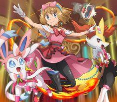 Pokemon Serena, Braixen, Pancham and Sylveon. Pancham Pokemon, Pokemon Waifu, Pokemon Charizard, Pokemon Ash And Serena, Pokemon X And Y, Sexy Pokemon, Cool Pokemon Wallpapers, Cute Pokemon Wallpaper, Pokemon Kalos