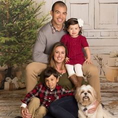 Family with dog holiday portrait| JCPenney Portraits