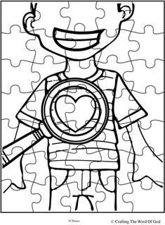 God Searches Hearts Puzzle Activity Sheet Sheets Are A Great Way To End Sunday School Lesson They Can Serve As Take Home