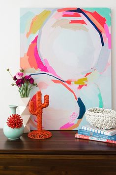 Hanging Art In The Home– 20 Leading Tips – Buy Abstract Art Right Painting Inspiration, Art Inspo, Interior Inspiration, Art Diy, Contemporary Abstract Art, Contemporary Bedroom, Hanging Art, Paint Designs, House Painting