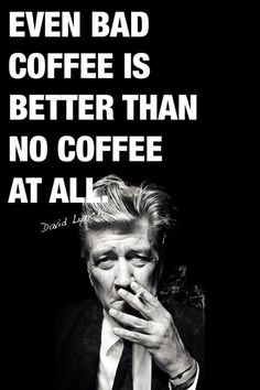 One of the few consumables that I feel this way about.  It's medicine.  Not that I have a problem...at least no more than a One Big Cup A Day problem.