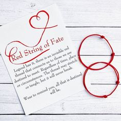 Red String of Fate Couple Bracelet Set with Card / Kabbalah Red Thread Bracelet / Couple Bracelet / Red String Bracelet – Diy Bracelets İdeas. Diy Bracelets With String, Red String Bracelet, Thread Bracelets, Jewelry Bracelets, Geek Jewelry, Pearl Necklaces, Copper Jewelry, Fashion Jewelry, Jewellery