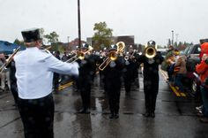 UMD Marching Band making their way into Malosky Stadium - Fall 2013