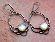 Pearl and Lace Earrings
