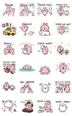 Kanahei's Piske & Usagi Come to Life! 2 LINE Sticker - Doodle Characters, Chibi Characters, Pusheen Stickers, Cute Stickers, Kawaii, Character Drawing, Character Design, Logo Tv, Cute Food Art
