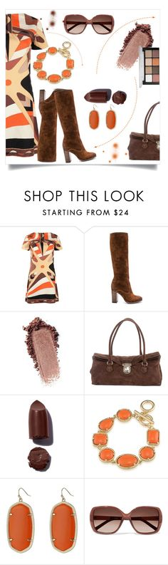 """""""brown/orange"""" by pam-doel on Polyvore featuring Emilio Pucci, Frye, Prada, 1st & Gorgeous by Carolee, Kendra Scott, Chloé and Viseart"""