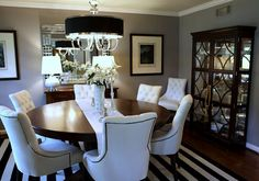 what an amazing dining room....paint = Behr Premium Plus Ultra UL260-6 - Fashion Gray