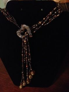 Fall Beauty Beaded Necklace by TinkertimeDesign on Etsy, $28.00