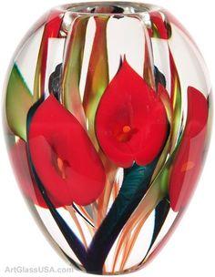 Arty designs / Scott Bayless (art,glass,lampwork,flowers,red,creative)