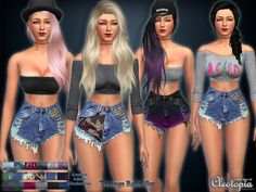 The Sims Resource: Set25- Teenage Rebel Casual Set by Cleotopia • Sims 4 Downloads
