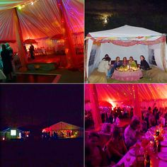 Cool marquee party - several marquees inexpensively decorated in Indian style for a laid back bohemian party