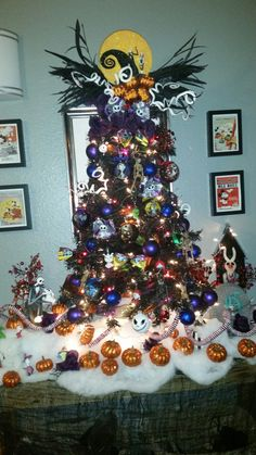 nightmare before christmas tree by tracy bermudez tracybermudez disney christmas christmas 2017 christmas - Jack Skeleton Christmas Decorations