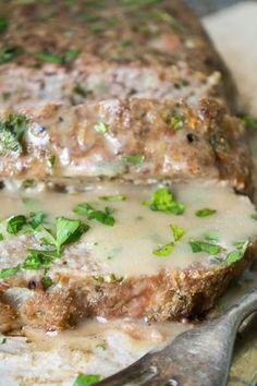 1770 House Meatloaf with roasted garlic gravy