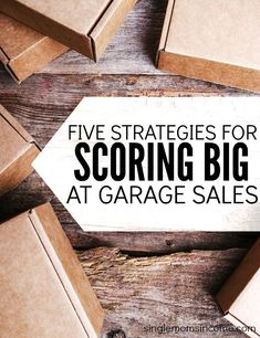 Ready to score big at garage sales this summer? Follow these five strategies and you'll spend less money and get more items. http://singlemomsincome.com/how-to-spend-less-and-score-big-at-garage-sales-this-summer/