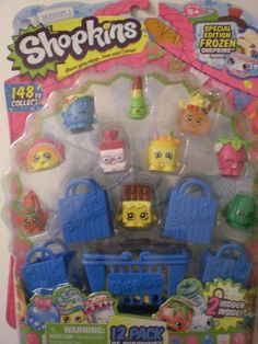 Shopkins 12 pack Season 1 Special Edition Frozen + 2 Hidden 5 RARE! #Moose