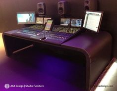 Avid S6 Desk Audio Studio - AKA Design Ltd Furniture - IBC