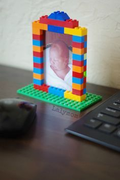 LEGO Week - DIY LEGO Picture Frames - Great photo gift ideas or decorations for a LEGO birthday party!