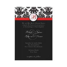 Black/White/Red invites