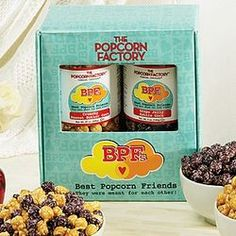 Peanut Butter and Jelly Best Friends Popcorn Gift Box $30.00