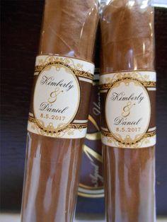 Great Gatsby Wedding Cigar Bands Custom by idoartsyweddings