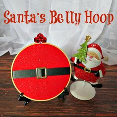 A Creative Princess: Santa's Belly Hoop