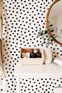 38 Ideas For Polka Dot Wall Decals Ideas Polka Dot Wall Decals, Bedroom Decor, Modern Wall Decals, Modern Decor, Polka Dot Walls, Room, Interior, Room Decor, Home Decor