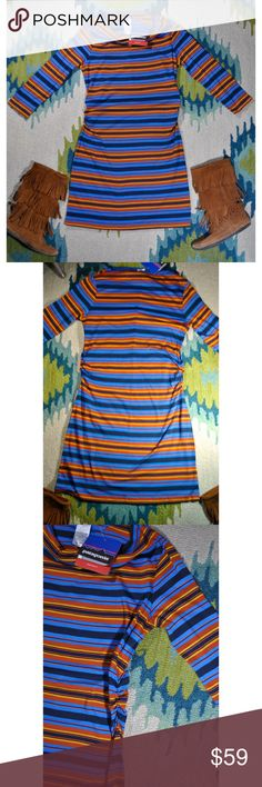 Patagonia NWT Kampala Cowl Neck Dress ✨ NWT! Never worn, I purchased this a size too big 😅 this dress is great for fall and winter! Best worn with fringe boots! Patagonia Dresses