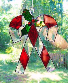 Glass Bevel and Stained Glass Christmas by StainedGlassAndMore, $32.99