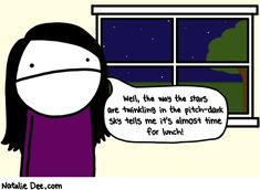 STILL trying to recover from time change!  >.<    Comic by Natalie Dee: thanks november thanks for nothing