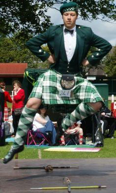 Scottish Sword Dance in Fife.                            ••••(KO) Scotland! Home of hunky men!