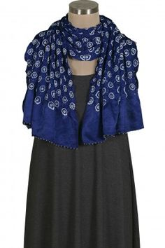 Blue Gajji Silk Stole
